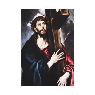 El Greco Cristo que lleva el abrigo cruzado de la  Lona Estirada Galerias
