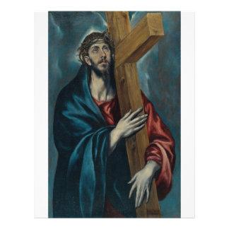 El Greco - Cristo que llevan la cruz Tarjetas Informativas