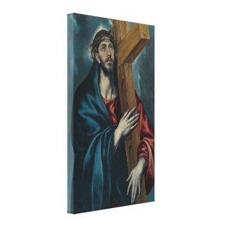 El Greco - Cristo que llevan la cruz Impresión En Lienzo