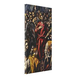 El Greco - desnudez de Cristo Lona Envuelta Para Galerias