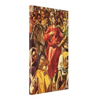 El Greco - desnudez de Cristo Impresiones De Lienzo