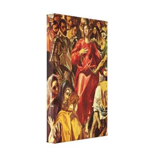 El Greco - desnudez de Cristo Lona Estirada Galerías