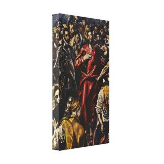 El Greco - desnudez de Cristo Impresion En Lona