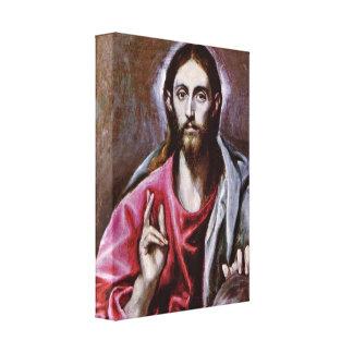 El Greco - el salvador del mundo Lona Envuelta Para Galerías