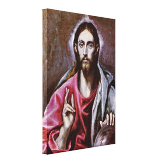 El Greco - el salvador del mundo Impresiones De Lienzo