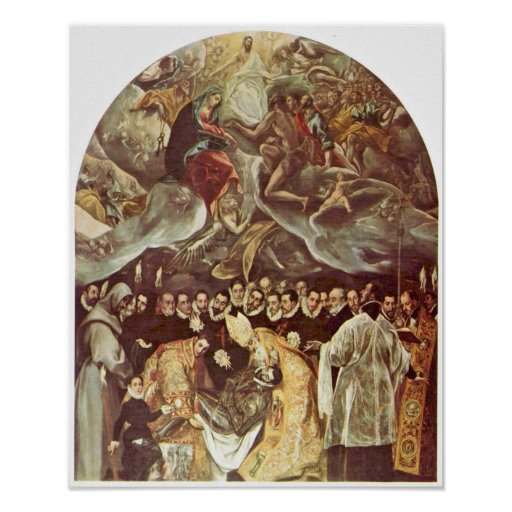 El Greco - entierro de la cuenta Orgaz Posters