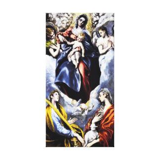 El Greco la lona de la Virgen y del niño envuelve Impresión En Lienzo Estirada