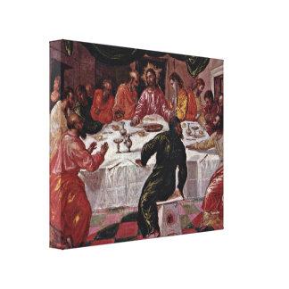El Greco - la última cena Impresiones De Lienzo