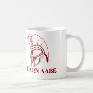 El Griego espartano viene tomarle Molon Labe Taza De Café