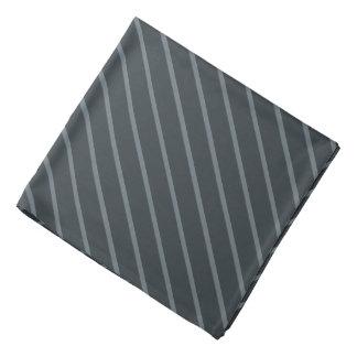 El gris con la diagonal ligera fina raya pañuelo