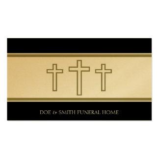 El gris del director de funeraria cruza el oro de  plantilla de tarjeta personal