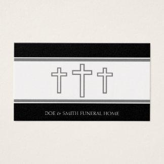 El gris del director de funeraria cruza platino de tarjeta de negocios