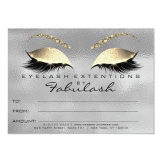 El gris del oro azota el regalo del certificado invitación 11,4 x 15,8 cm