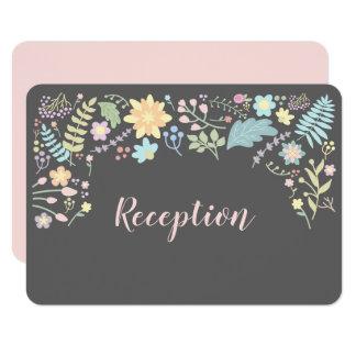 El gris el | se ruboriza las tarjetas florales