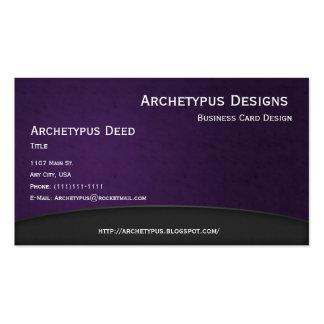 El gris en violeta curva el estilo 1 de la tarjeta tarjeta de visita