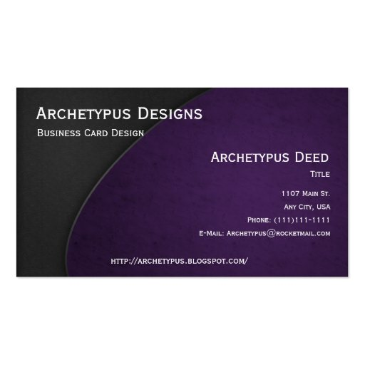 El gris en violeta curva el estilo 3 de la tarjeta plantillas de tarjetas personales