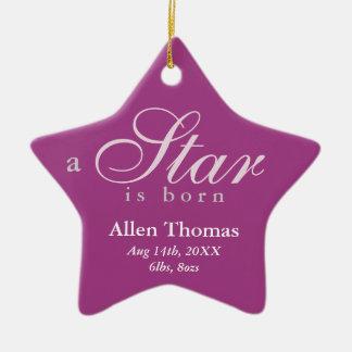 El gris púrpura una estrella es invitación nacida ornato