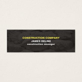 El gris simple moderno empiedra la construcción tarjeta de visita pequeña