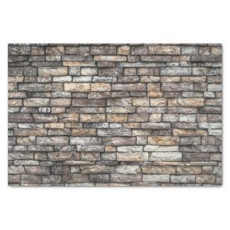 El gris teja la pared de ladrillo papel de seda