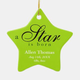 El gris verde una estrella es invitación nacida ornamento de reyes magos