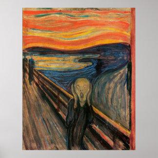 El grito de Edvard Munch Póster