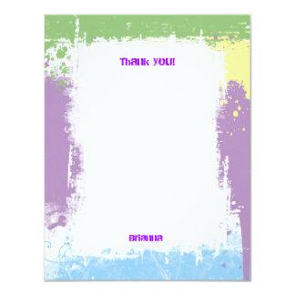 El Grunge en colores pastel dulce de Hip Hop le Invitación 10,8 X 13,9 Cm
