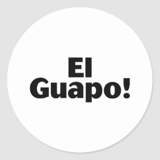 EL Guapo Pegatina Redonda