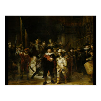 El guardia nocturna, Rembrandt Van Rijn Postal