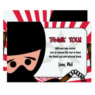 El guerrero de Ninja le agradece las tarjetas Invitación 8,9 X 12,7 Cm