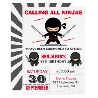 El guerrero lindo de Ninja embroma la invitación