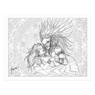 El guerrero y la princesa postal
