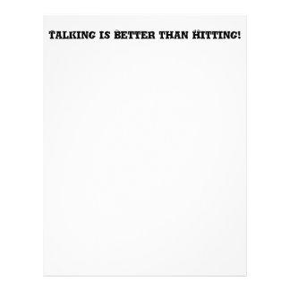El hablar es mejor que golpeando - matón anti folleto 21,6 x 28 cm