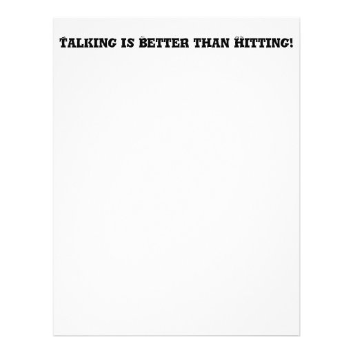El hablar es mejor que golpeando - matón anti tarjetones