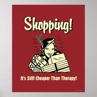 El hacer compras: Más barato que terapia Póster
