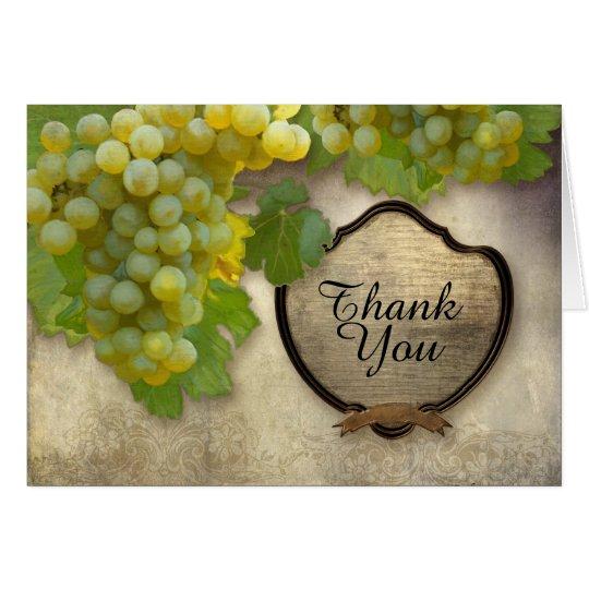 El hacer juego le agradece observa la uva de tarjeta de felicitación