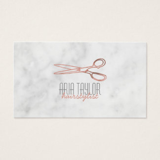 El Hairstylist RoseGold Scissors la tarjeta de