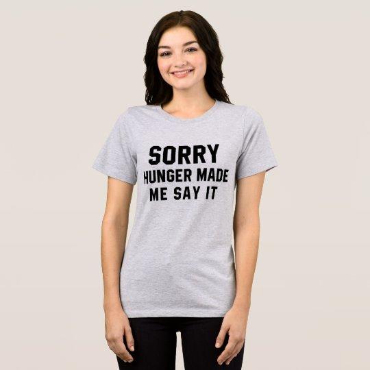 El hambre triste de la camiseta de Tumblr hizo que