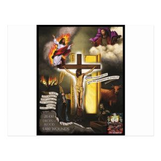 El Harrowing de Jesús de la marca registrada Postal