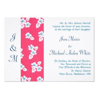 El Hawaiian florece la invitación del boda del Invitación 12,7 X 17,8 Cm