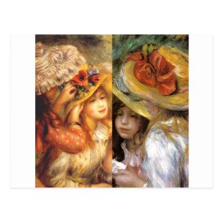 El headwear de las mujeres es obras maestras en el postal