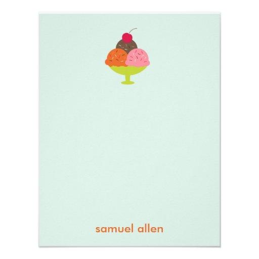 El helado del helado le agradece las tarjetas (azu invitación