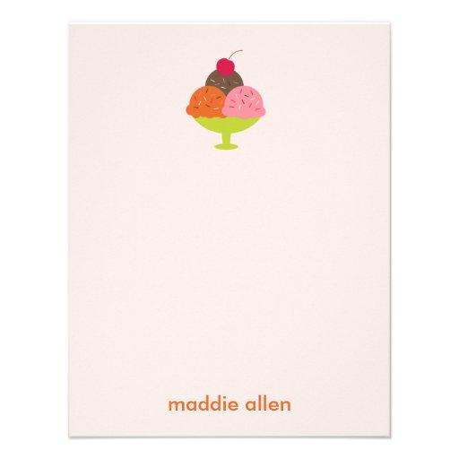 El helado del helado le agradece las tarjetas (el  comunicados personales