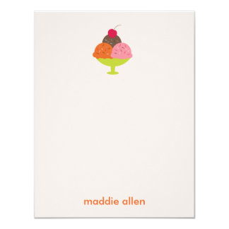 El helado del helado le agradece las tarjetas (el invitación 10,8 x 13,9 cm