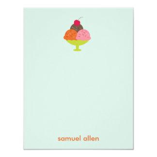 El helado del helado le agradece las tarjetas invitación 10,8 x 13,9 cm