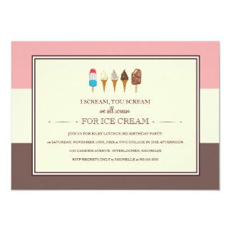 El helado embroma invitaciones de la fiesta de invitación 12,7 x 17,8 cm