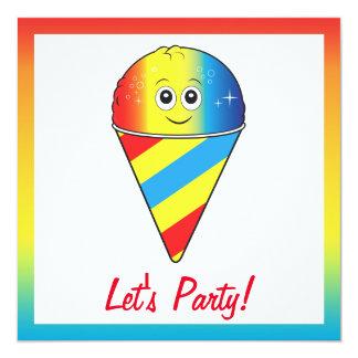 El helado trata a la fiesta de cumpleaños invitación 13,3 cm x 13,3cm