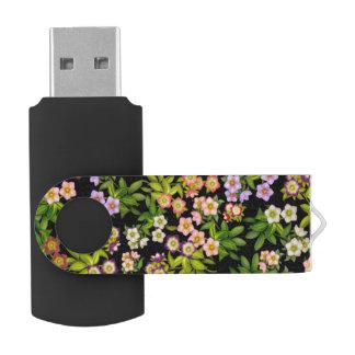 El Hellebore del rosa cuaresmal florece memoria Memoria USB