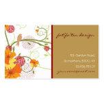 el hibisco amarillo del fatfatin remolina perfil d tarjeta de visita