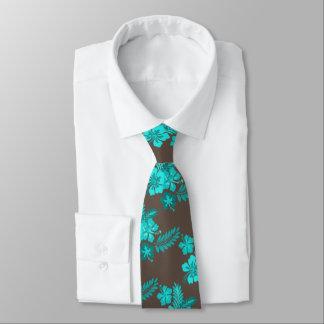 El hibisco florece la corbata de Brown de la