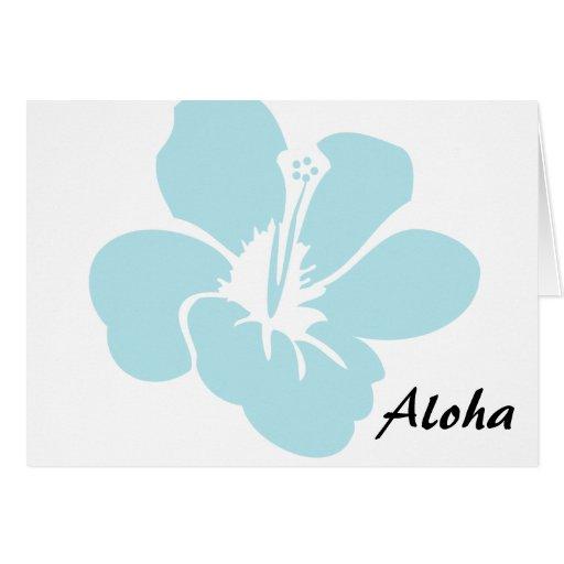 El hibisco hawaiano florece hawaiana tarjetón